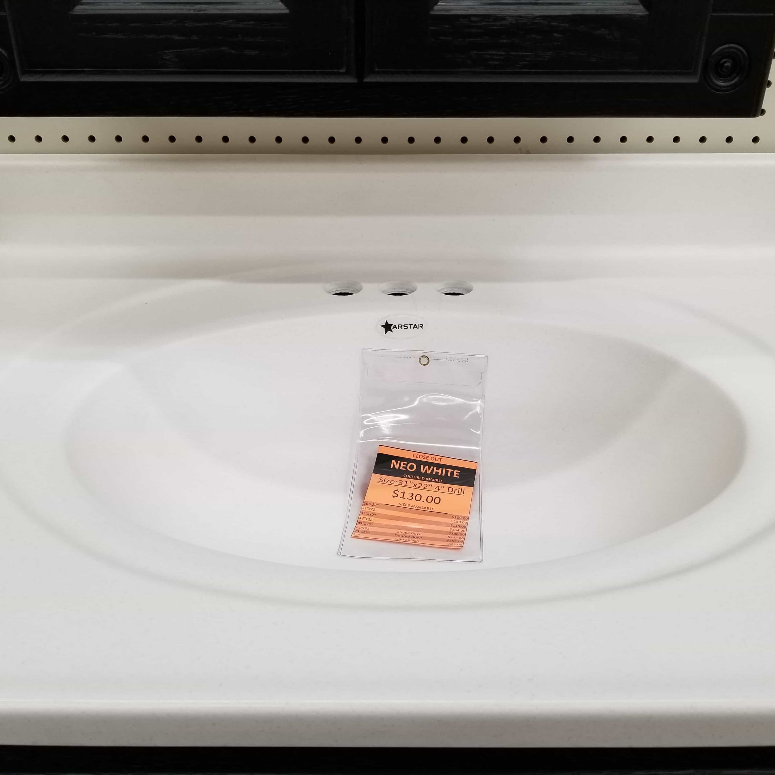 neo white cultured marble vanity top