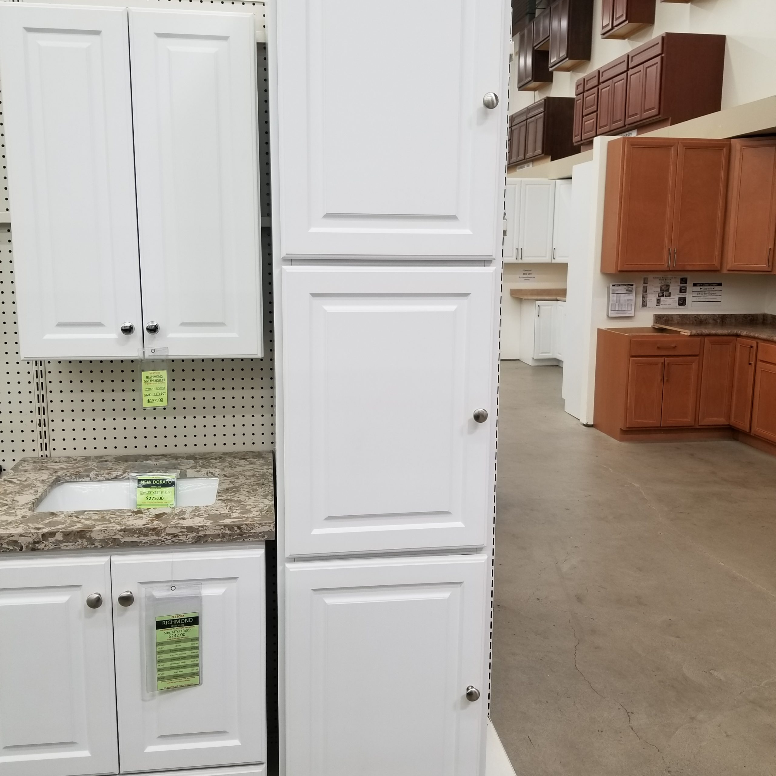 richmond satin white linen cabinet